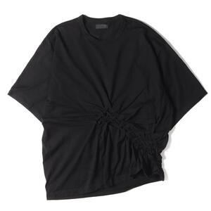 Yohji Yamamoto Y's ヨウジヤマモト Tシャツ スモッキング編み ビッグシルエット Tシャツ S'YTE ブラック 3