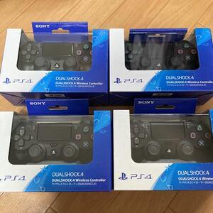 新品未開封 PS4 ワイヤレスコントローラー 純正 ジェットブラック