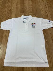 未使用 MIZUNO 長野オリンピック 1998 ポロシャツ 半袖 白 サイズM