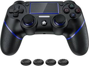 PS4コントローラー ワイヤレス振動機能 人間工学設計ゲームパット搭載 連射機能