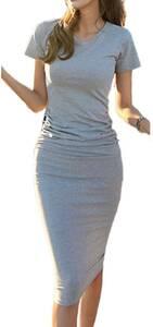 韓国 キャバドレス 半袖 フォーマル タイトワンピース シャツワンピース