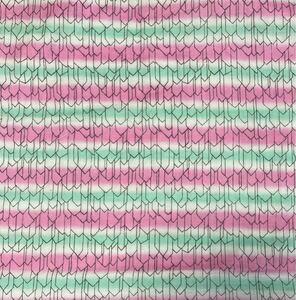 ダブルガーゼ矢がすりピンク