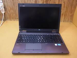 □S/306☆ヒューレット・パッカード hp☆15.6型ノートパソコン☆ProBook 6570b☆Core i5-3210M 2.50GHz☆HDD/メモリなし☆ジャンク