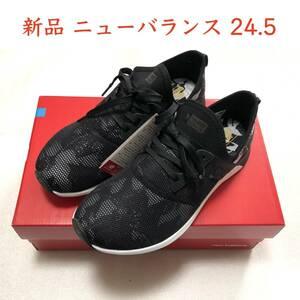 【SALE】【送料無料】即決!新品 new balance ジョギングシューズ 24.5cm  WXNRGLK ニューバランス フィットネス ウォーキング 黒