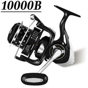 YU196 スピニングリール 釣りリール 10000番 リール 軽量 最大ドラグ力15kg 遠投 海水 淡水両用 左右ハンドル交換可能 ギア比:4.1:1