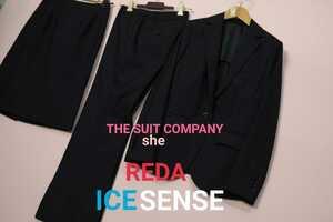 36 THE SUIT COMPANY she レディース スーツ セットアップ 上下 セット スカート パンツ ジャケット スーツカンパニー 夏 春 伊製生地