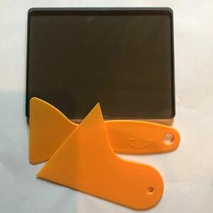 茶色ガラス板 ジラコヘラ(セット) 革床面磨きガラス板 レザークラフト工具 道具