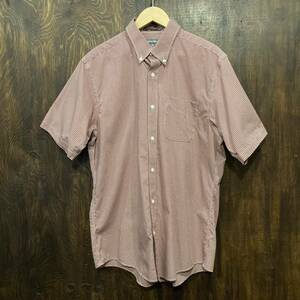 Eddie Bauer エディバウアー 半袖 ボタンダウン チェックシャツ M ボタンダウンシャツ 半袖シャツ