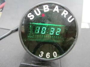 必見!旧車 当時物 スバル360で使用していたデジタル時計 流用にも!