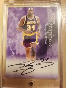 サイン 1999 -00 Skybox Autographics SHAQUILLE ONEAL Auto / シャキール オニール Autograph (Unstoppable SHAQ) LA Lakers