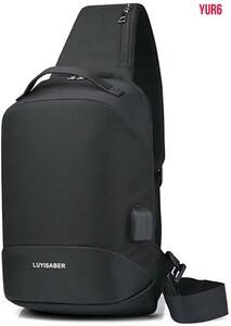 180°開閉できるボディバッグ ワンショルダー 斜めがけ メンズ 肩がけバッグ 9.7インチ 収納可能 usbポート男女兼用 通学 旅行 ブラック