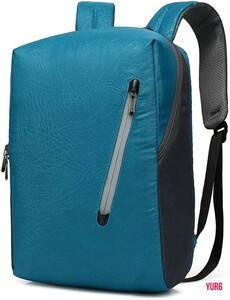 バックパック ビジネスリュック 15.6インチPC ファッションバックパック 大容量 USB充電ポートイヤホン穴付き 男女兼用 スカイブルー