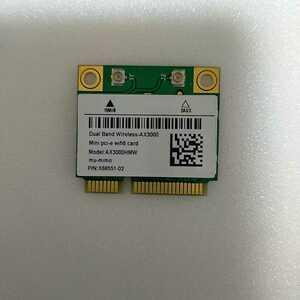 国内発送無料 無線LANカード WiFi6 AX3000HMW mini PCI-E