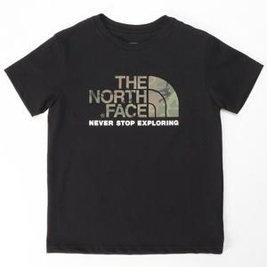 THE NORTH FACE ザ・ノースフェイス キッズ ショートスリーブカモロゴティー S/S Camo Logo Tee 120cm ブラック 美品
