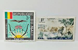★REPUBLIQUE DU MALI★マリ共和国 未使用 切手 2枚★