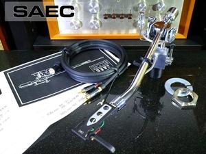 SAEC WE-308 トーンアーム シェル/ケーブル等付属 リフターオイル補充済み Audio Station