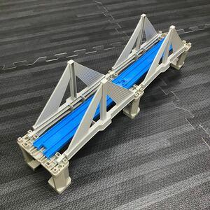 プラレール 橋 直線 エクストラドーズド橋 グレー橋脚