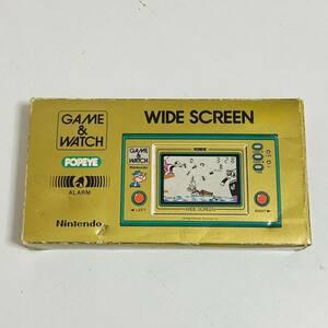 【動作品】GAME&WATCH ゲームウォッチ ワイドスクリーン POPEYE ポパイ PP-23 Nintendo 任天堂 希少 レア