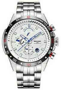 ☆最安値☆ メンズ 腕時計 機械式 自動巻き 45mm 多機能 紳士ウォッチ 夜光 防水 男性 スポーツ シルバー