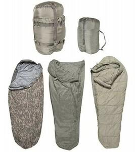 米軍 寝袋5点セット ゴアテックス寝袋シュラフカバー付MSS モジュラー スリーピングバッグ システム ARMY米陸軍