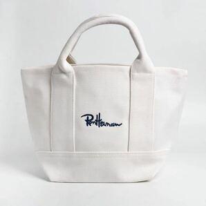 ロンハーマン Ron Herman レディース ミニトートバッグ ロゴ 刺繍 人気 ホワイト
