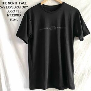 新品 THE NORTH FACE ザノースフェイス エクスプロラトリーロゴティー 黒 Tシャツ キャンプ 登山 アウトドア