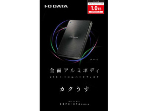 アウトレット品・送料無料 IO-DATA USB3.0対応 外付け ポータブルハードディスク 1TB HDPX-UTA1.0K