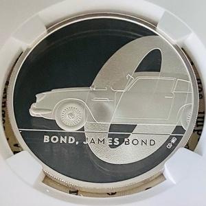 ★NGC★最高鑑定★2020 イギリス 第1弾 007 ジェームスボンド PF70 UC ファーストリリース ロイヤルミント 銀貨 2ポンド 希少 資産 COA