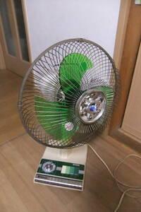 動作品 30cm ナショナル扇風機 白鳥 F 30D1L 昭和54年発売? レトロ家電 Old fan 首振り機能 タイマー付き