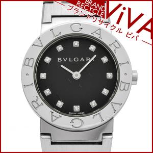 ブルガリ BVLGARI ブルガリブルガリ レディース 腕時計 ロゴあり BB26SS 12Pダイヤ SS ステンレススチール 腕周り15cm 良品 研磨仕上げ済