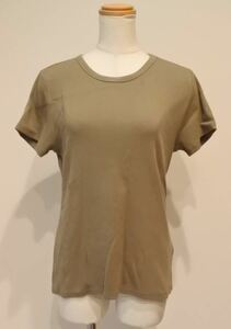 H&M エイチ&エム Tシャツ カットソー 半袖 Lサイズ カーキ akskre a201h0830