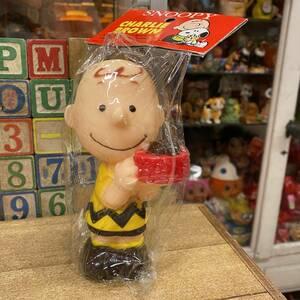 Vintage PEANUTS Vinyl Squeak Toy Charlie Brown ヴィンテージ ピーナッツ ソフビ チャーリーブラウン snoopy スヌーピー ビンテージ トイ