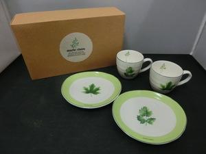 未使用品 marie claire マリクレール ペアコーヒー エルブ コーヒーカップ ケーキ皿 2客セット