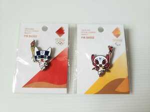 【ネコポス送料負担!】東京2020 オリンピック パラリンピック ピンバッジ 公式ライセンス商品 郵便局 限定 ミライトワ ソメイティ