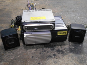 22-616 SONY  Sony Corporation  FM/AM мини  диск  игрок /MDX-F5800/10 стопа  CD ченджер  CDX-656 &  динамики SRS-003 ( 2 шт  )   ретро,  старый  автомобиль  и т.д.