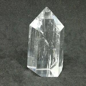 原石水晶六角柱ポイント43.10g 置物 天然石 パワーストーン