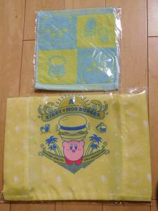 Kirby of the Stars ★ Eco Bag and Towel Handkerchief Mos Burger Original Products