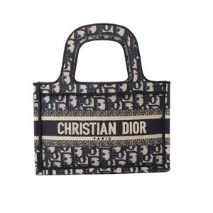 クリスチャン・ディオール Christian Dior ブックトート ミニ S5475ZRIW_M928 ネイビー ハンドバッグ レディース 中古