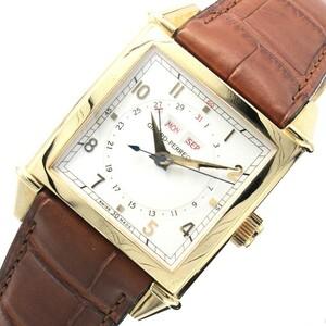 ジラール・ペルゴ GIRARD PERREGAUX ヴィンテージ1945 カレンダー 25810-52-151-0 ホワイト 腕時計 メンズ 中古