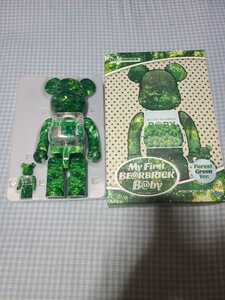 MY FIRST BE@RBRICK B@BY FOREST GREEN Ver. 100% & 400% ベアブリック 千秋 未使用 1円スタート 送料無料