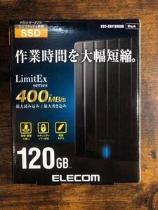 エレコム ELECOM 外付けSSD [120GB /ポータブル型]