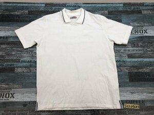 〈送料280円〉DoCLASSE ドゥクラッセ レディース ボタンなし 綿 半袖ポロシャツ 大きいサイズ XL 白紺