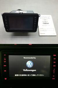 VW フォルクスワーゲン 6RCJZ 純正OP クラリオン メモリーナビ J0VDC2J06 地図 2014年 ナビ 本体のみ / 取説 CD/DVD/TV/Bluetooth/USB