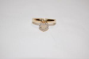 ヴァンドーム青山 VENDOME K18 イエローゴールド ダイヤモンド ハートチャーム リング 指輪 サイズ約11号