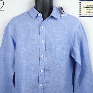 《郵送無料》■Ijinko◆新品☆HARVARD|ハーバードFrench Linen M サイズ長袖シャツ