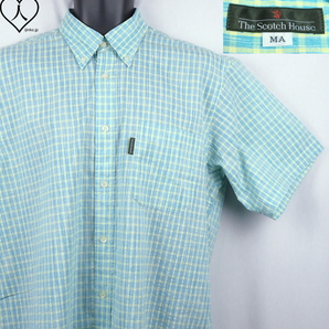 《郵送無料》■Ijinko◆新品☆スコッチハウス The Scotch House 日本製 MA サイズ半袖シャツ