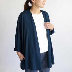 『 スッと着れる 羽織もの カーディガン 』シルクのような とろみ伸縮Tシャツ・カットソー素材A61C