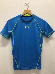 良好 UNDER ARMOUR アンダーアーマー 半袖 インナー Tシャツ メンズ MDサイズ ブルー
