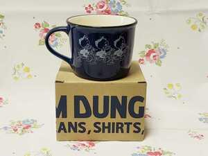デニムダンガリー ノベルティ マグカップ ドナルドの甥っ子ヒューイ・デューイ・ルーイ ディズニー ブルー 未使用品