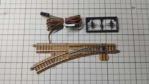 TOMIX トミックス 1224 電動ポイント N-PL280-30 茶系道床 ダミーポイントモーター付き 動作確認済み